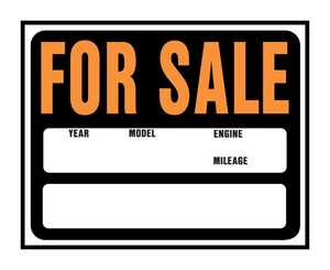 Hy-Ko Products SP-112 Sign Auto/Boat For Sale 15x19