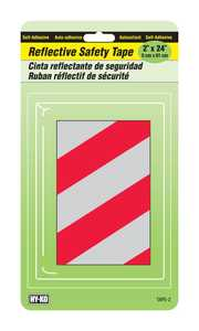 Hy-Ko Products TAPE-2 Reflector Red/Silver Stripes