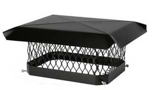HY C COMPANY SC99 Black Galvanized Steel Chimney Cover, 9x9