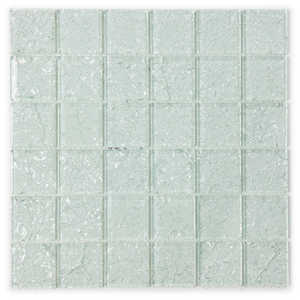 ICL I-130 Crackle Glass Collection I130 12x12 in Glass Mosaic Tile Sheet