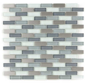 ICL C-312 Metal Wave Collection C312 12x12 in Mosaic Tile Sheet