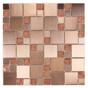 ICL H-471 Urban Metal Collection H471 12x12 in Mosaic Tile Sheet