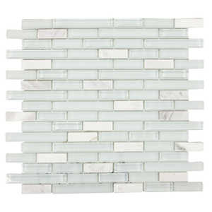 ICL H-2124 Marble Mix Collection H2124 12x12 in Mosaic Tile Sheet