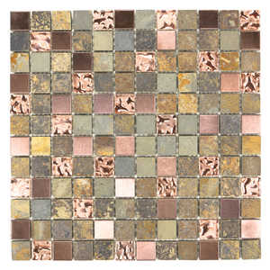 ICL E-320 Earth Stone Collection E320 12x12 in Mosaic Tile Sheet