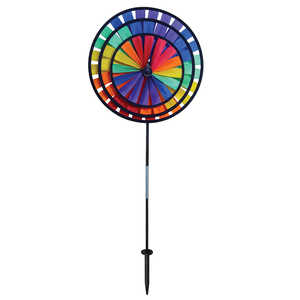 In The Breeze ITB-2837 Rainbow Triple Wheel Garden Spinner