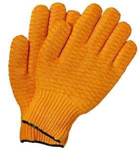 Illinois Glove Co 155L Rev Yellow Pvc Overlay Knit Lrg