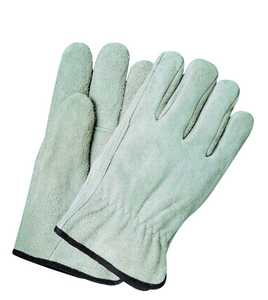 Illinois Glove Co 34M Driver Suede Cowhide Med