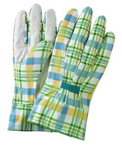 Illinois Glove Co 921 Pvc Dot Gingham Plaid Women Md