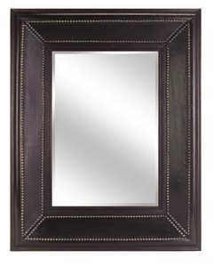 Imax Corp 5970 Rectangular Leather Mirror