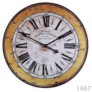 Imax Corp 1667 Rustic Metal Clock