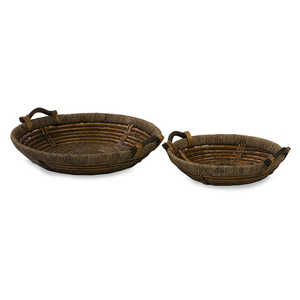 Imax Corp 67020-2 Over-Sized Willow Trays