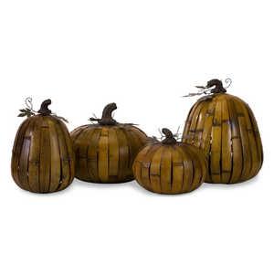 Imax Corp 59532-4 Short Bamboo Pumpkin