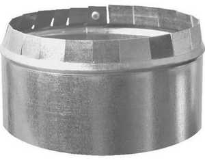 Imperial GV1399 6 in Galvanized Short Collar, No Crimp