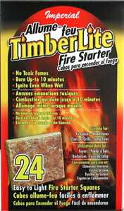 Imperial KK0312 Timberlite Fire Starter Squares, 24 Count