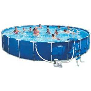 Intex Recreation 54947EG Metal Frame Swimming Pool 24 ft X 52 in