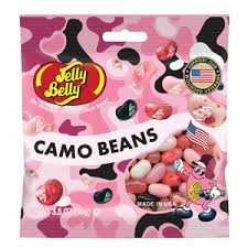 JELLY BELLY CANDY CO 66133 Pink Camo Bean Jelly Beans 3.5 oz Bag