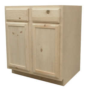 KAPAL WOOD PRODUCTS B30-PFP 30 In Unfinished Knotty Pine Base Cabinet