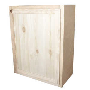 KAPAL WOOD PRODUCTS W2430-PFP 24 In X 30 In Unfinished Knotty Pine Wall Cabinet
