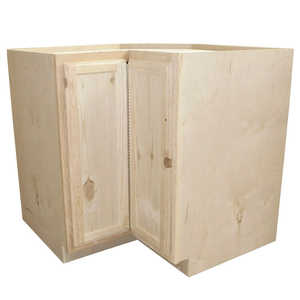 KAPAL WOOD PRODUCTS LSB36-PFP 36 In Unfinished Knotty Pine Lazy Susan Corner Base Cabinet