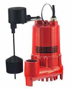 Red Lion RL-SC33V Sump Pump 1/3hp Cast Iron With Float