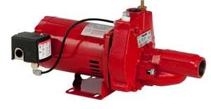 Red Lion RJC-50 1/2 Horsepower Convertible Jet Pump With Injector Kit, Cast Iron