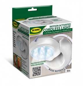 IdeaWorks JB6676 Motion Actived Cordless LED Light White