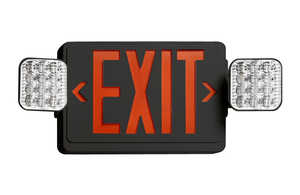 Juno Lighting NXPCL3RWH LED Combo Exit Sign/Emergency Light