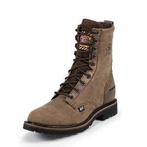 Justin Boots WK960 Men's Wyoming Worker II Waterproof Work Boots 9d
