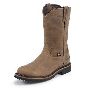Justin Boots WK4961 Men's Wyoming Worker II Waterproof Steel Toe Work Boots 11.5d