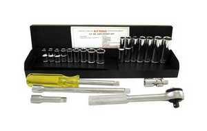 K-T Industries Inc 1-5223 Socket Set 1/4 Drive Metric 22pc