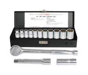 K-T Industries Inc 1-5414 Socket Set 1/2 Drive 15pc