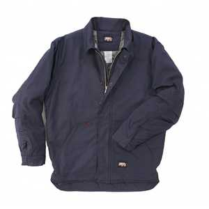 Key Industries 367.4 Flame Resistant Insulated Duck Chore Coat, Navy Large Tall