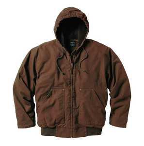 Key Industries 337.27 Premium Fleece Lined Hooded Jacket Bark 3xLarge Tall