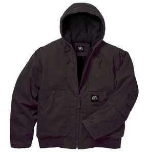 Key Industries 376.27 Premium Insulated Fleece Lined Hooded Jacket, Bark Xlarge Regular