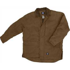 Key Industries 377.28 Premium Insulated Fleece Lined Duck Chore Coat, Saddle Medium Regular
