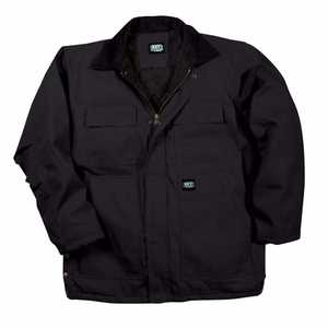 Key Industries 378.01 Insulated Duck Chore Coat, Black 3XLarge Tall