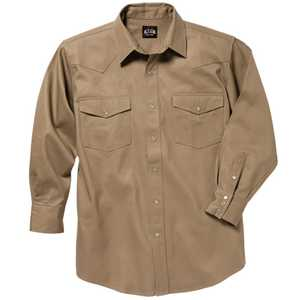 Key Industries 519.24 Medium Khaki Western Welders Long Sleeve Shirt