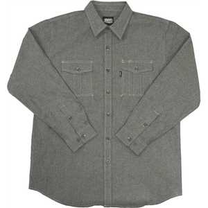 Key Industries 527.02 X-Large Black Chambray Performance Comfort Long Sleeve Shirt