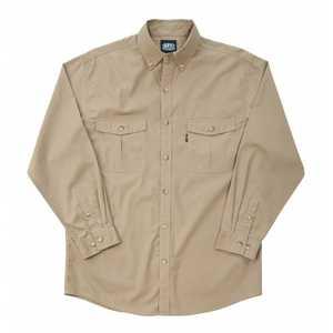 Key Industries 532.24 Medium Khaki Rip Stop Long Sleeve Shirt