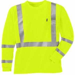 Key Industries 848.39 4X-Large Tall Hi-Visibility Yellow A.N.S.I. Class 3 Waffle Knit Short Sleeve Pocket T-Shirt