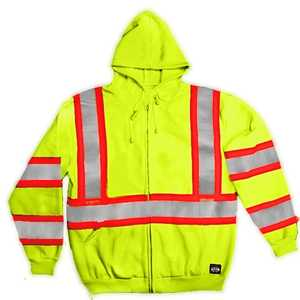 Key Industries 879.39 3X-Large Hi-Visibility Yellow Sweatshirt