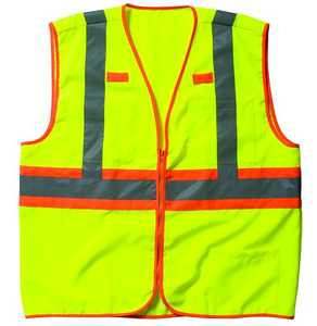 Key Industries 89.39 Large Hi-Visibility Yellow Ansi Class 3 Solid Safety Vest