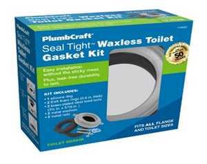 PlumbCraft 7140300 Seal Tight Waxless Toilet Gasket Kit