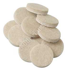 Waxman 4719095N Pads Felt Oatmeal 1 in 48pc