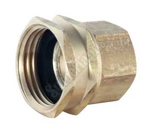 Waxman 7410400N 3/4-Inch X 1/2-Inch Brass Swivel Hose Connector