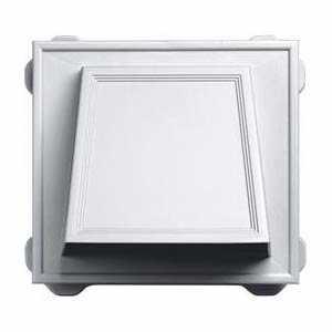 Builders Edge 140016774001 Vent Dryer Hooded White