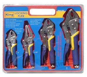 King Tools & Equipment 0064-0 Pliers Locking Set 4pc