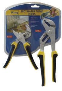 King Tools & Equipment 0066-0 Pliers Multi Grip 2pc