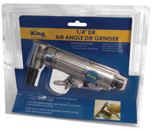 King Tools & Equipment 0405-0 Grinder Die Angle Right Air