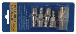 King Tools & Equipment 0430-0 5-Piece Quick Coupler Set